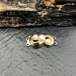 14 kt. guld dobbelt perlekæde lås hos Guldsmedien Køge.