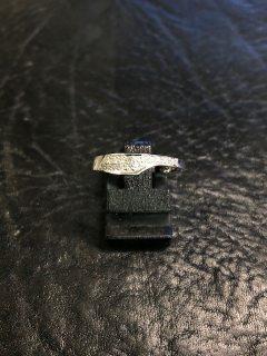 14 kt. hvidgulds ring med 0,19 ct. Str. 56.